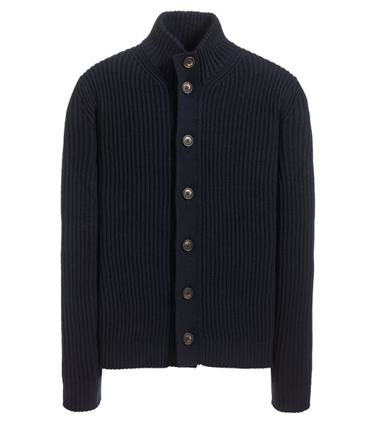 CARDIGAN BUTTON SWEATER FISHER MAN RIB