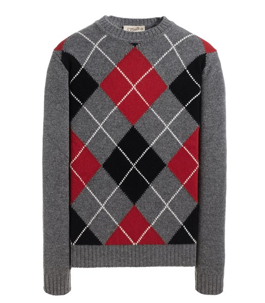 CREWNECK SWEATER LONG SLEEVE ARGYLE