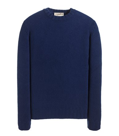 CREWNECK SWEATER LONG SLEEVE SEED STITCH