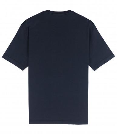 T-SHIRT DARK BLUE COTTON CRÊPE