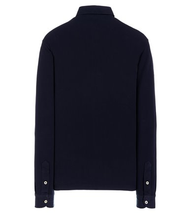 BLUE SHIRT LONG SLEEVE WITH VINTAGE PLACKET