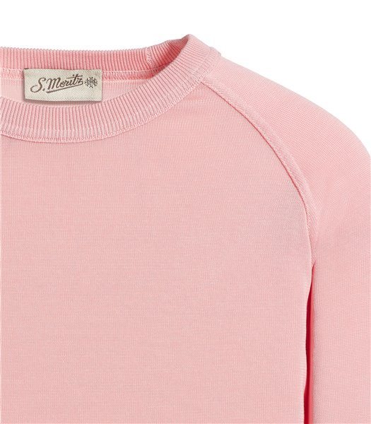 maglia-girocollo-rosa-manica-lunga-raglan-crepe