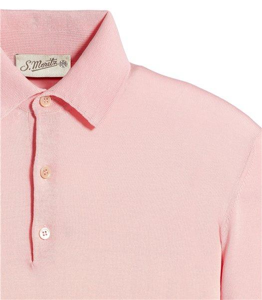 polo-cotone-rosa-manica-corta
