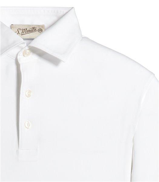 polo-bianco-manica-corta-jersey-vintage