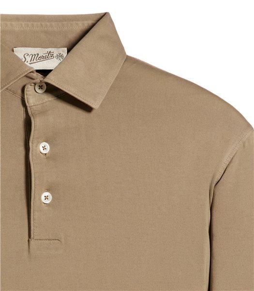 polo-beige-manica-corta-jersey-vintage