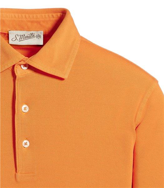 polo-arancione-manica-corta-piquet-vintage