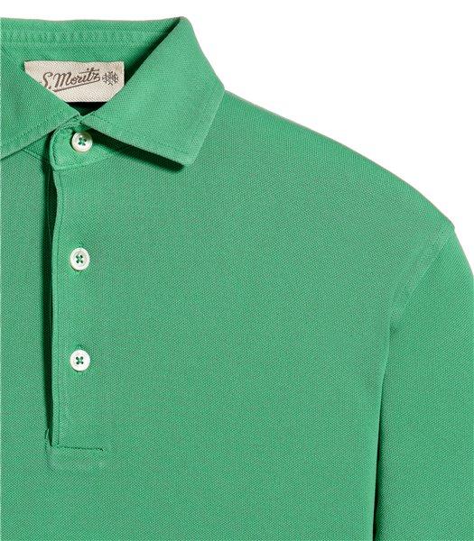 polo-verde-manica-corta-piquet-vintage