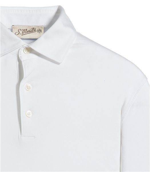 polo-bianco-manica-lunga-jersey-vintage