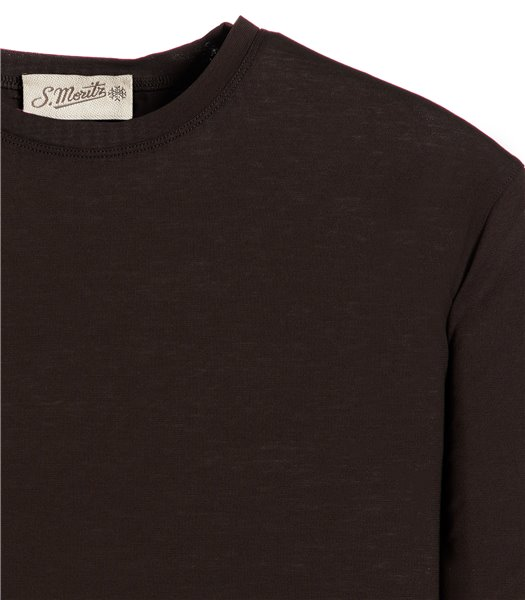 t-shirt-marrone-manica-corta-jersey-crepe