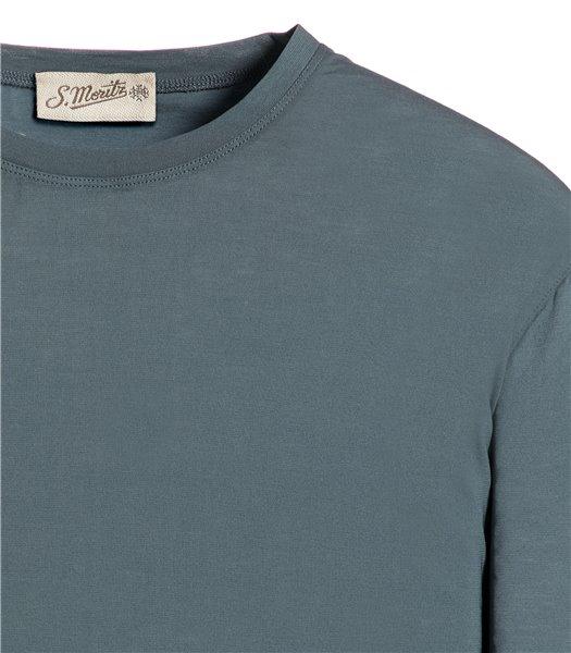 t-shirt-grigio-scuro-manica-corta-jersey-crepe