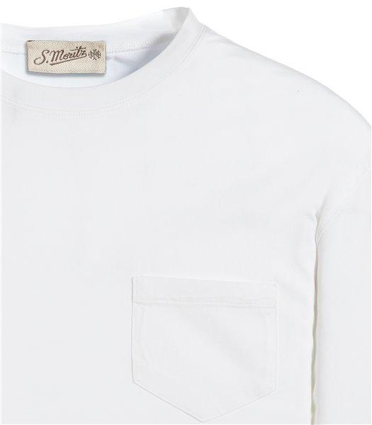 t-shirt-bianco-manica-corta-taschino-jersey-vintage