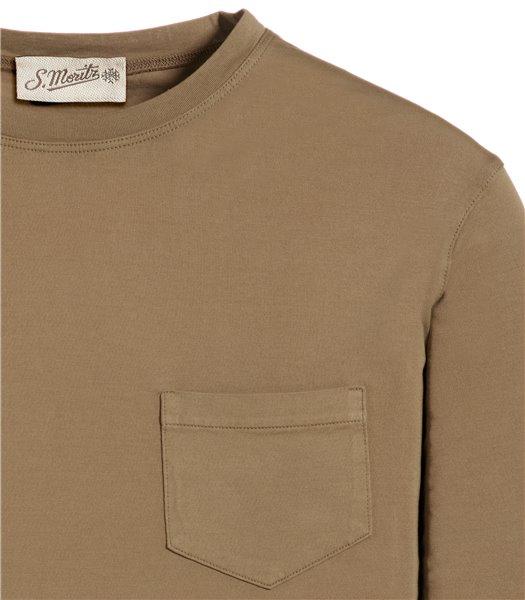 t-shirt-beige-manica-corta-taschino-jersey-vintage