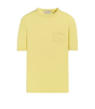 YELLOW T-SHIRT SHORT SLEEVE WITH JERSEY VINTAGE POCKET