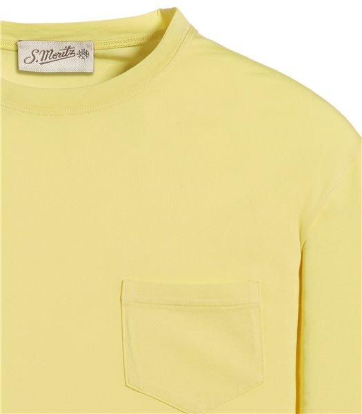 t-shirt-giallo-manica-corta-taschino-jersey-vintage
