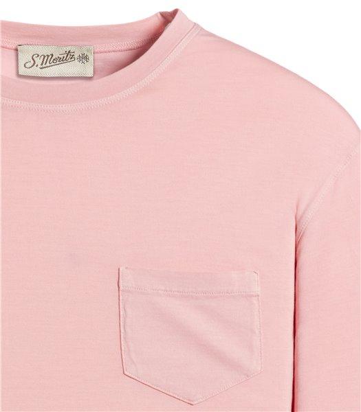 t-shirt-rosa-manica-corta-taschino-jersey-vintage