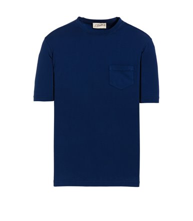 BLUE T-SHIRT SHORT SLEEVE WITH JERSEY VINTAGE POCKET