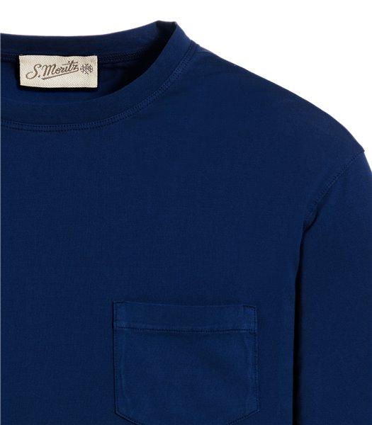 t-shirt-blu-manica-corta-taschino-jersey-vintage