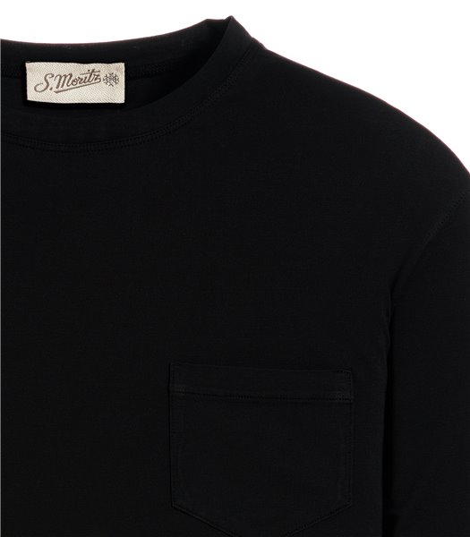 t-shirt-nero-manica-corta-taschino-jersey-vintage