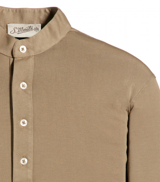 camicia-coreana-capri-beige-manica-lunga-jersey-vintage