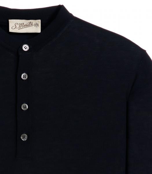 maglia-serafino-blu-manica-corta-crepe-rasato
