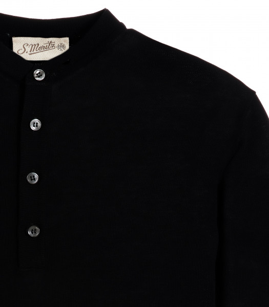 maglia-serafino-nero-manica-corta-crepe-rasato