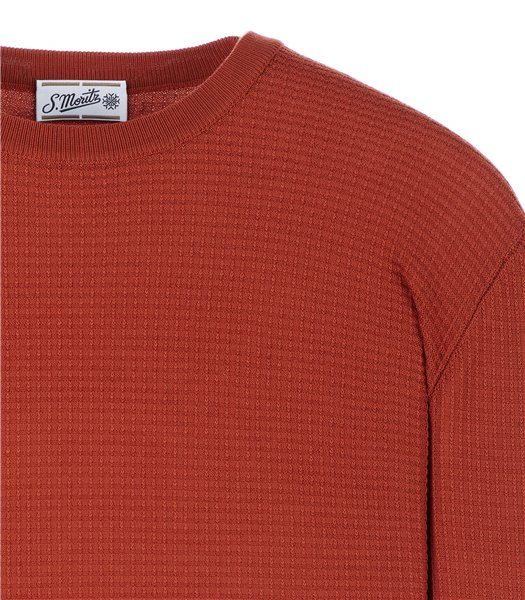 maglia-uomo-girocollo-manica-lunga-cotone-rosso