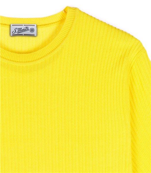 maglia-uomo-girocollo-manica-corta-cotone-giallo