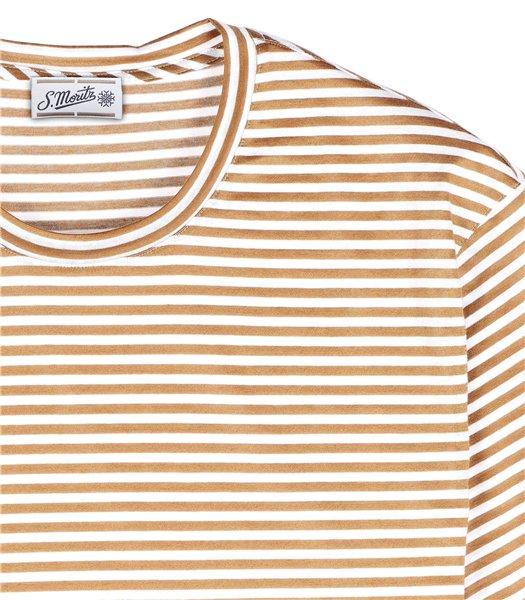 t-shirt-uomo-manica-corta-cotone-righe-bianco-e-marrone
