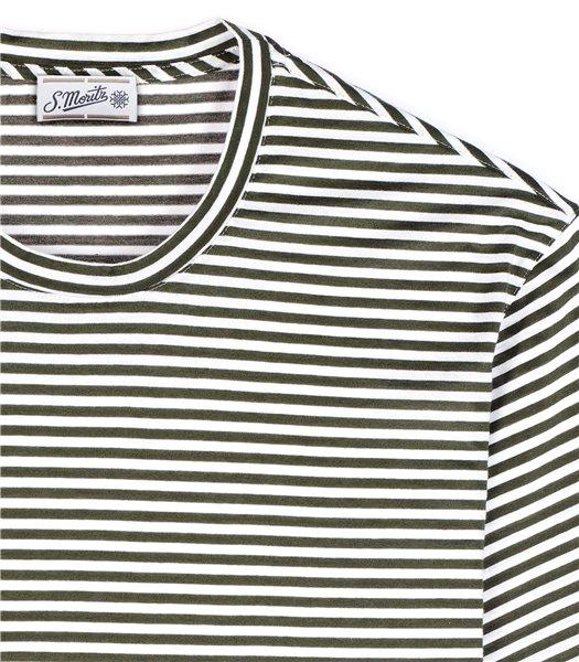 t-shirt-uomo-manica-corta-cotone-righe-bianco-e-verde