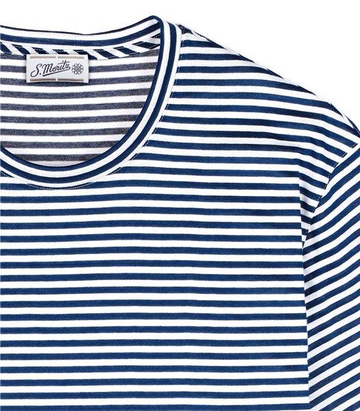 t-shirt-uomo-manica-corta-cotone-righe-bianco-e-blu