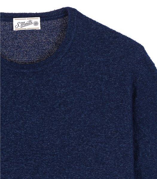 maglia-uomo-girocollo-manica-corta-cotone-poliammide-bluette