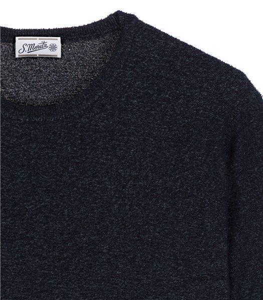 maglia-uomo-girocollo-manica-corta-cotone-poliammide-blu