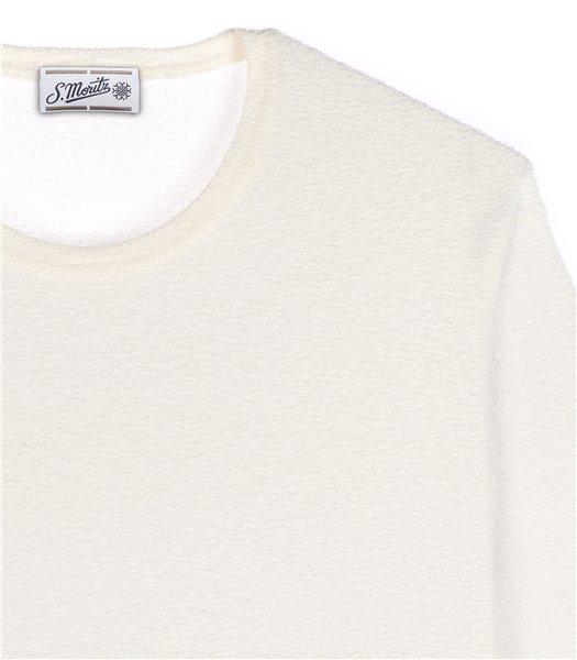 maglia-uomo-girocollo-manica-corta-cotone-poliammide-panna