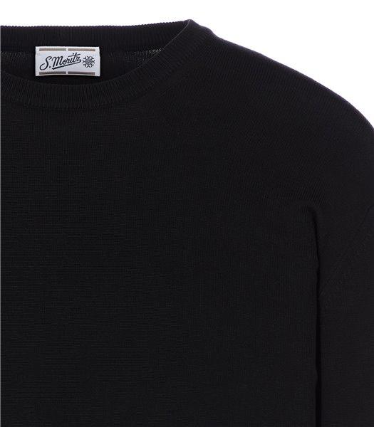 maglia-uomo-girocollo-manica-lunga-cotone-nero