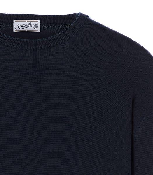 maglia-uomo-girocollo-manica-lunga-cotone-blu