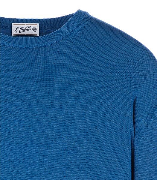 maglia-uomo-girocollo-manica-lunga-cotone-azzurro-avio
