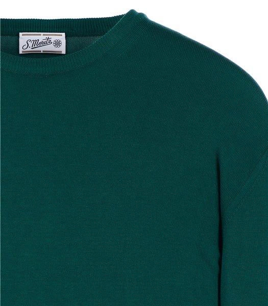 maglia-uomo-girocollo-manica-lunga-cotone-verde-smeraldo