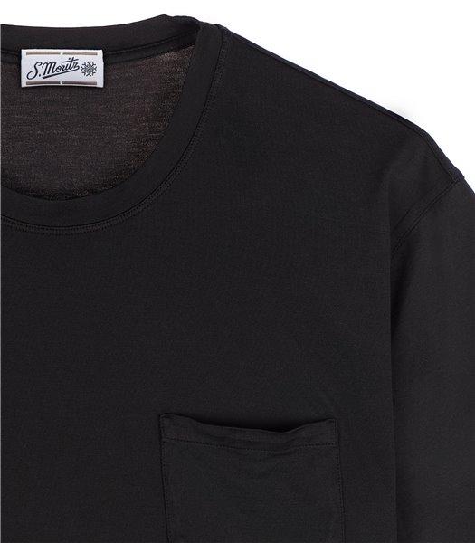 t-shirt-uomo-con-tasca-manica-corta-cotone-nero