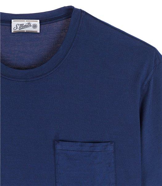 t-shirt-uomo-con-tasca-manica-corta-cotone-bluette