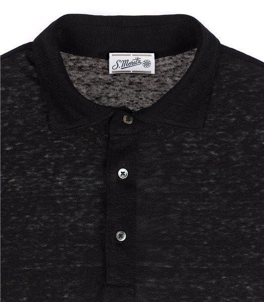 maglia-polo-uomo-manica-corta-lino-nero