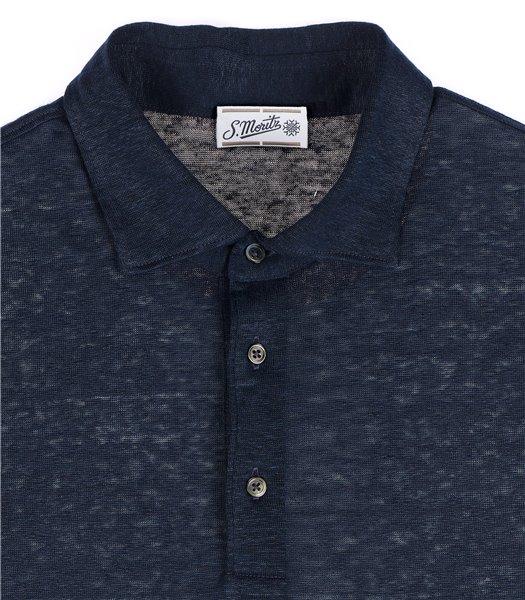 maglia-polo-uomo-manica-corta-lino-blu