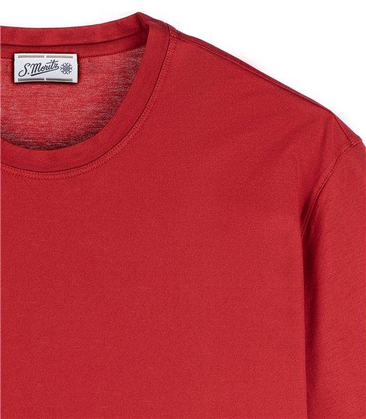 t-shirt-uomo-manica-corta-cotone-ruggine