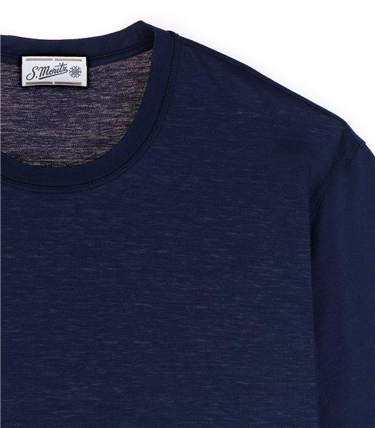 t-shirt-uomo-manica-corta-cotone-bluette