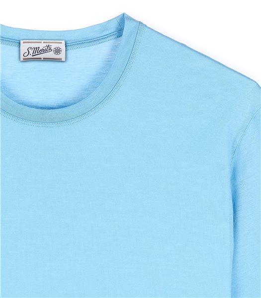 t-shirt-uomo-manica-corta-cotone-celeste
