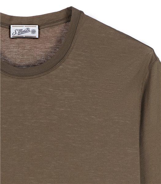 t-shirt-uomo-manica-corta-cotone-tortora