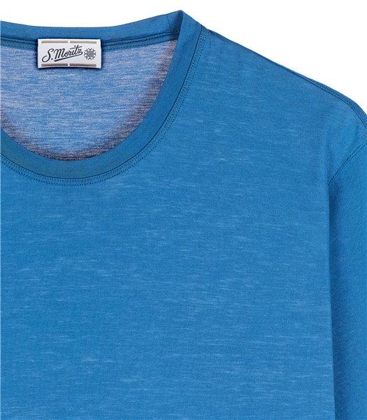 t-shirt-uomo-manica-corta-cotone-azzurro-avio