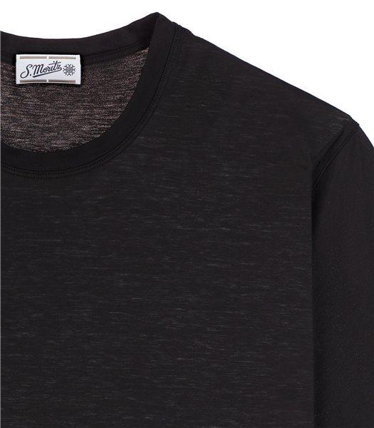 t-shirt-uomo-manica-corta-cotone-nero