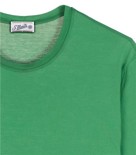t-shirt-uomo-manica-corta-cotone-verde