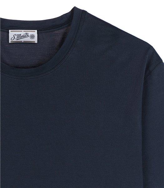 t-shirt-uomo-manica-corta-cotone-blu