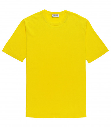 T-SHIRT YELLOW COTTON CRÊPE